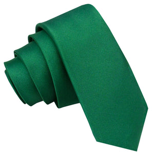 TiesDirect.co.uk - Plain Satin Skinny Tie Colour emerald-green