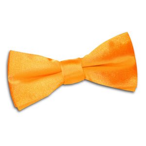 TiesDirect.co.uk - Plain Satin Pre-Tied Bow Tie - Boys Colour fluorescent-orange
