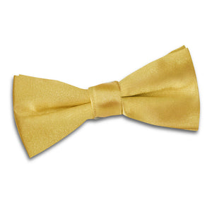 TiesDirect.co.uk - Plain Satin Pre-Tied Bow Tie - Boys Colour gold