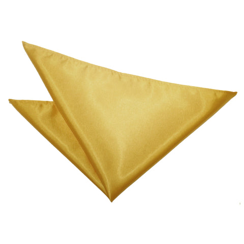TiesDirect.co.uk - Plain Satin Handkerchief Colour gold