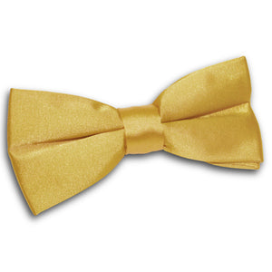 TiesDirect.co.uk - Plain Satin Pre-Tied Bow Tie Colour gold
