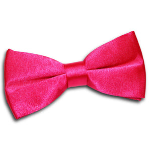 TiesDirect.co.uk - Plain Satin Pre-Tied Bow Tie Colour hot-pink