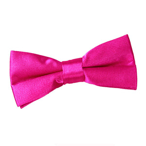 TiesDirect.co.uk - Plain Satin Pre-Tied Bow Tie - Boys Colour hot-pink