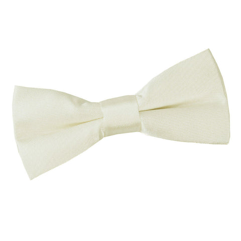TiesDirect.co.uk - Plain Satin Pre-Tied Bow Tie - Boys Colour ivory