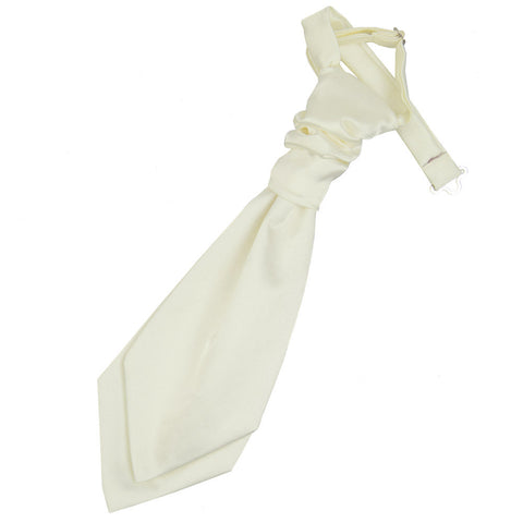 TiesDirect.co.uk - Plain Satin Pre-Tied Ruche Cravat - Boys Colour ivory