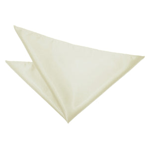 TiesDirect.co.uk - Plain Satin Handkerchief Colour ivory