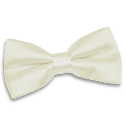 TiesDirect.co.uk - Plain Satin Pre-Tied Bow Tie Colour ivory