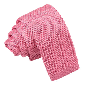 Plain Knitted Tie - Boys - Strawberry Pink