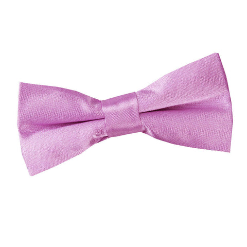 TiesDirect.co.uk - Plain Satin Pre-Tied Bow Tie - Boys Colour lilac