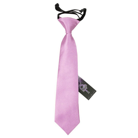 TiesDirect.co.uk - Plain Satin Elasticated Tie - Boys Colour lilac
