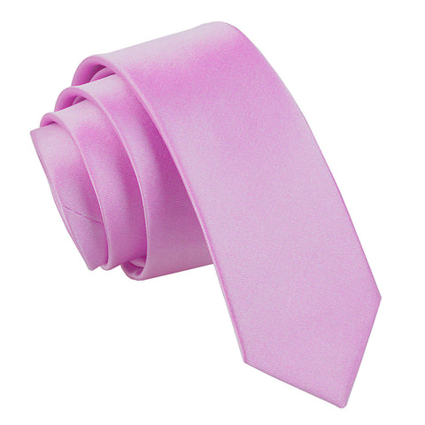 TiesDirect.co.uk - Plain Satin Skinny Tie Colour lilac