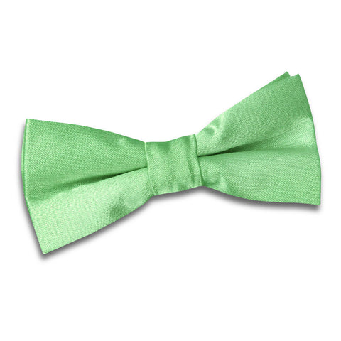 TiesDirect.co.uk - Plain Satin Pre-Tied Bow Tie - Boys Colour lime-green