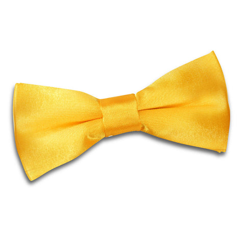 TiesDirect.co.uk - Plain Satin Pre-Tied Bow Tie - Boys Colour marigold