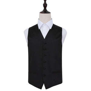TiesDirect.co.uk - Plain Satin Waistcoat Colour black