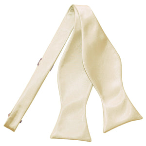 TiesDirect.co.uk - Plain Satin Self-Tie Bow Tie Colour champagne
