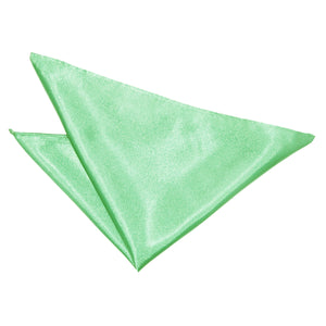 TiesDirect.co.uk - Plain Satin Handkerchief Colour mint-green