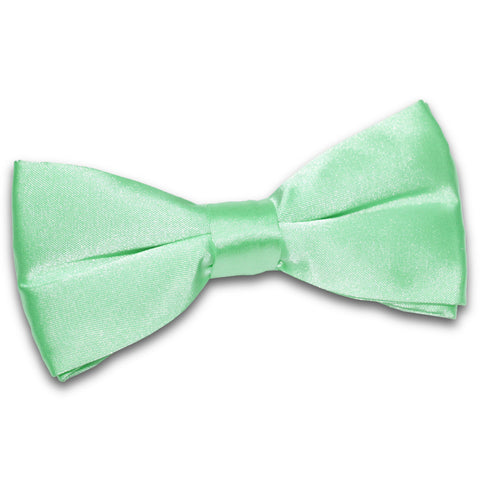TiesDirect.co.uk - Plain Satin Pre-Tied Bow Tie Colour mint-green