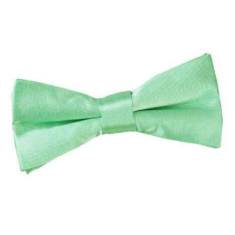TiesDirect.co.uk - Plain Satin Pre-Tied Bow Tie - Boys Colour mint-green