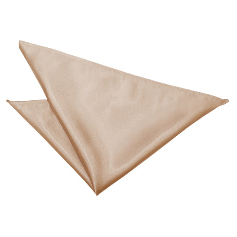 TiesDirect.co.uk - Plain Satin Handkerchief Colour mocha-brown
