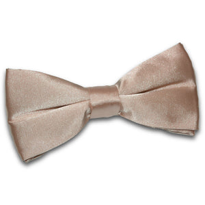 TiesDirect.co.uk - Plain Satin Pre-Tied Bow Tie Colour mocha-brown