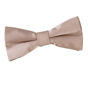TiesDirect.co.uk - Plain Satin Pre-Tied Bow Tie - Boys Colour mocha-brown