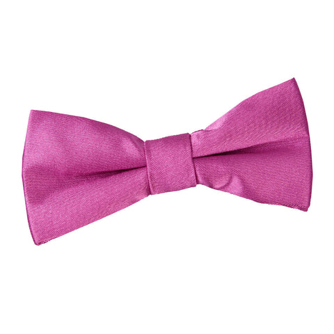 TiesDirect.co.uk - Plain Satin Pre-Tied Bow Tie - Boys Colour mulberry
