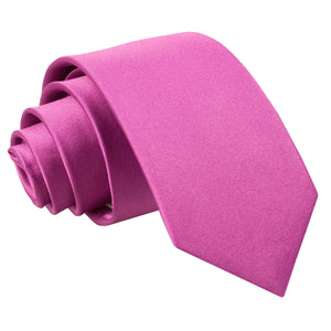 TiesDirect.co.uk - Plain Satin Regular Tie - Boys Colour mulberry