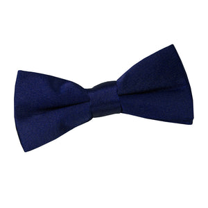 TiesDirect.co.uk - Plain Satin Pre-Tied Bow Tie - Boys Colour navy-blue