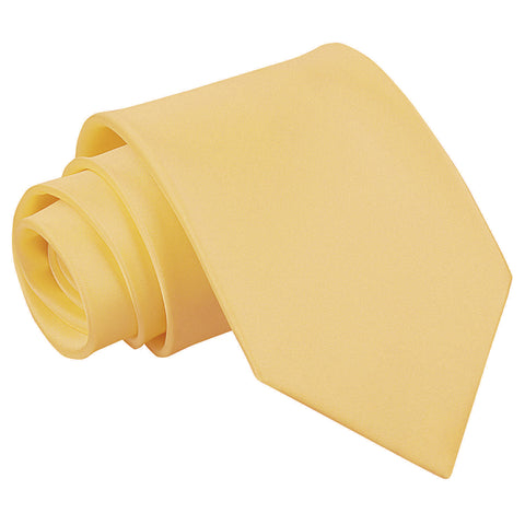 TiesDirect.co.uk - Plain Satin Extra Long Tie Colour pale-yellow