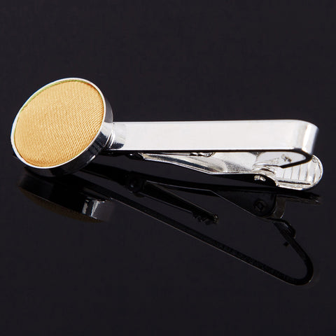 TiesDirect.co.uk - Plain Satin Tie Clip Colour pale-yellow