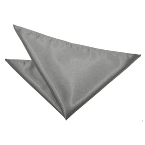 TiesDirect.co.uk - Plain Satin Handkerchief Colour platinum