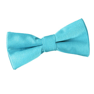TiesDirect.co.uk - Plain Satin Pre-Tied Bow Tie - Boys Colour robins-egg-blue