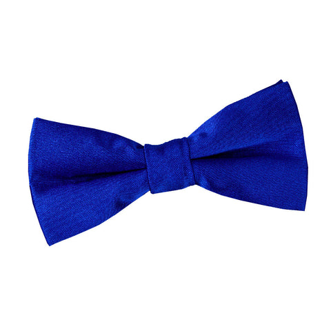 TiesDirect.co.uk - Plain Satin Pre-Tied Bow Tie - Boys Colour royal-blue