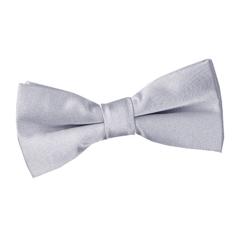 TiesDirect.co.uk - Plain Satin Pre-Tied Bow Tie - Boys Colour silver