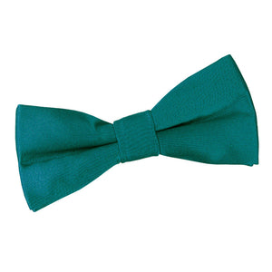 TiesDirect.co.uk - Plain Satin Pre-Tied Bow Tie - Boys Colour teal