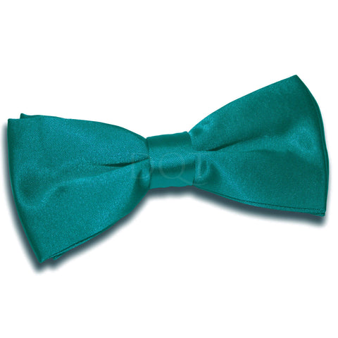 TiesDirect.co.uk - Plain Satin Pre-Tied Bow Tie Colour teal