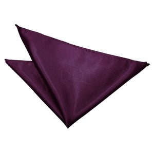 TiesDirect.co.uk - Plain Satin Handkerchief Colour plum