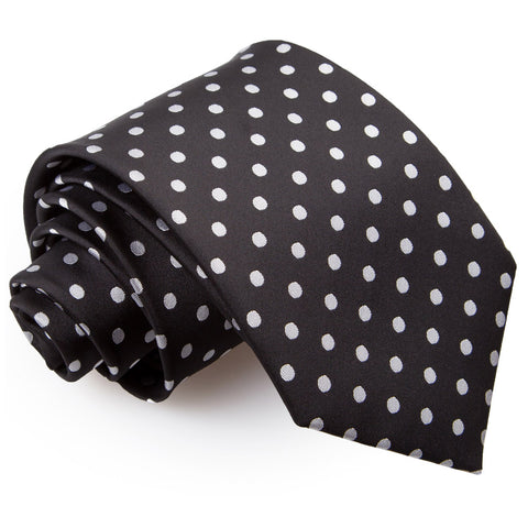 TiesDirect.co.uk - Polka Dot Regular Tie Colour black