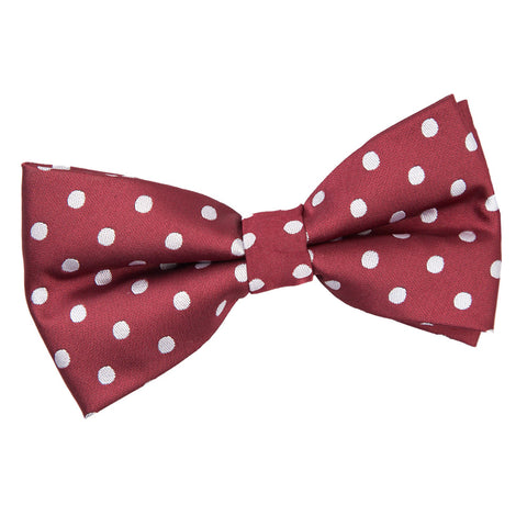 TiesDirect.co.uk - Polka Dot Pre-Tied Bow Tie Colour burgundy
