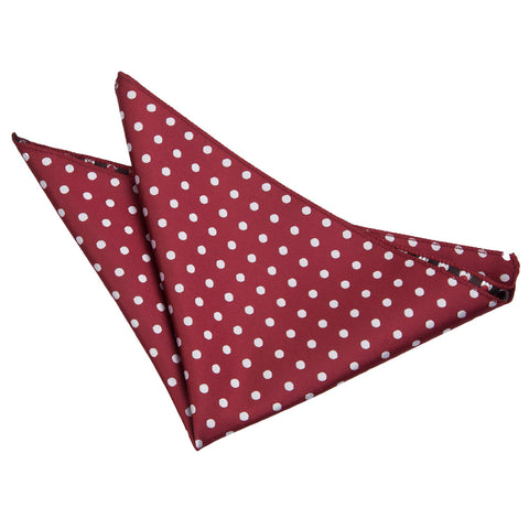 TiesDirect.co.uk - Polka Dot Handkerchief Colour burgundy