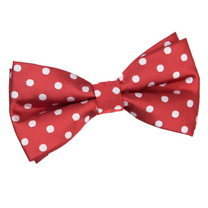 TiesDirect.co.uk - Polka Dot Pre-Tied Bow Tie Colour dark-red