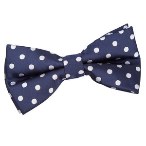 TiesDirect.co.uk - Polka Dot Pre-Tied Bow Tie Colour navy-blue