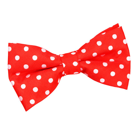TiesDirect.co.uk - Polka Dot Pre-Tied Bow Tie Colour red