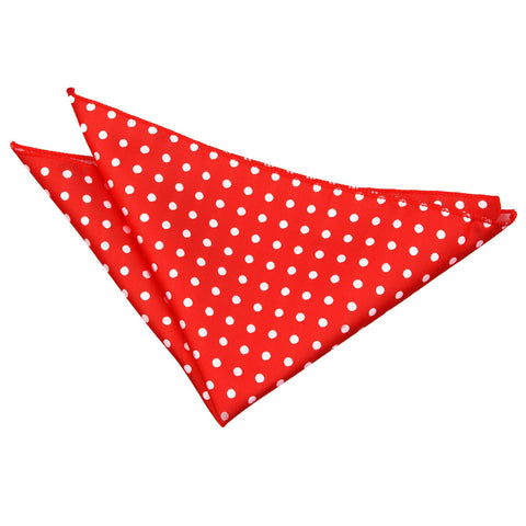 TiesDirect.co.uk - Polka Dot Handkerchief Colour red