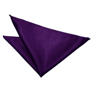 TiesDirect.co.uk - Plain Satin Handkerchief Colour purple