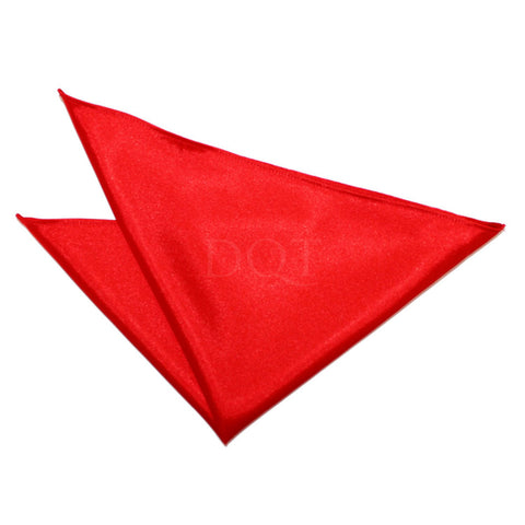 TiesDirect.co.uk - Plain Satin Handkerchief Colour red