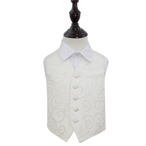 TiesDirect.co.uk - Scroll Waistcoat - Boys Colour ivory