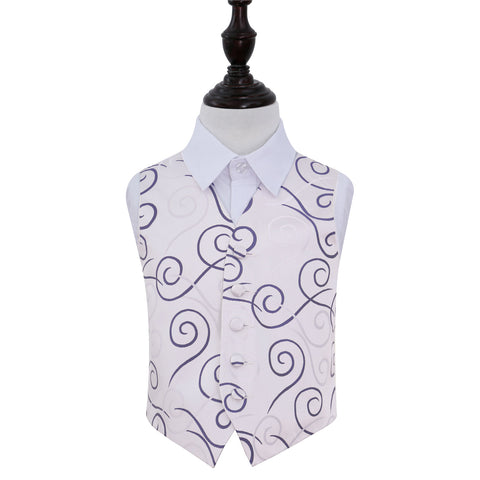 TiesDirect.co.uk - Scroll Waistcoat - Boys Colour purple