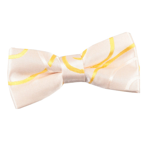 TiesDirect.co.uk - Scroll Pre-Tied Bow Tie - Boys Colour gold