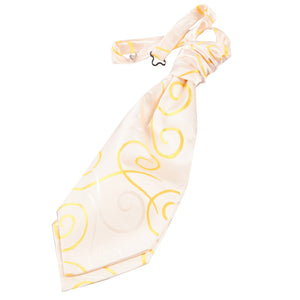 TiesDirect.co.uk - Scroll Pre-Tied Ruche Cravat - Boys Colour gold